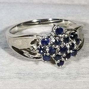 Jewelry - Genuine sapphire 925 silver ring